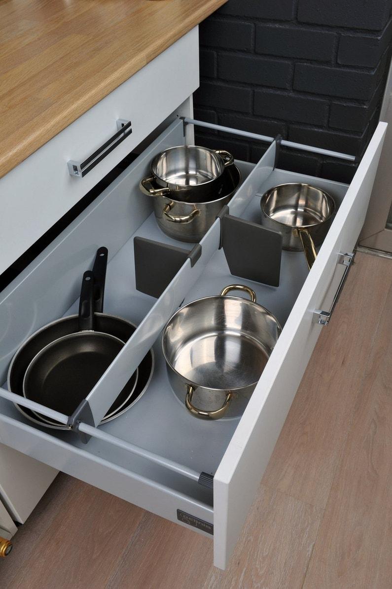 s parer les ustensiles de cuisine directement dans votre tiroir leroy merlin. Black Bedroom Furniture Sets. Home Design Ideas