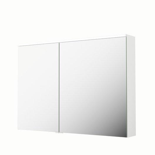 armoire de toilette lumineuse l 105 cm blanc sensea neo leroy merlin. Black Bedroom Furniture Sets. Home Design Ideas