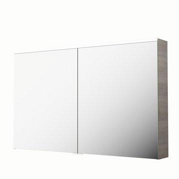 Armoire de toilette armoire salle de bains leroy merlin for Meuble mural profondeur 20