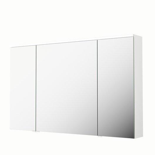 Armoire de toilette lumineuse l. 120 cm, blanc, SENSEA Neo | Leroy ...