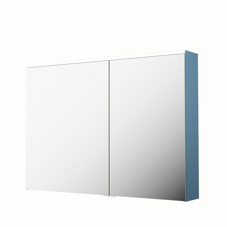 Armoire de toilette lumineuse l. 105 cm, bleu, SENSEA Neo | Leroy Merlin