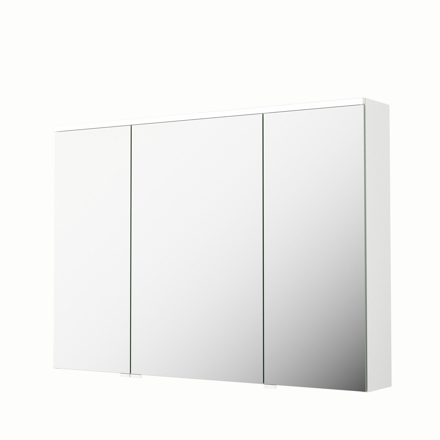armoire de toilette lumineuse l 105 cm blanc sensea neo leroy merlin. Black Bedroom Furniture Sets. Home Design Ideas