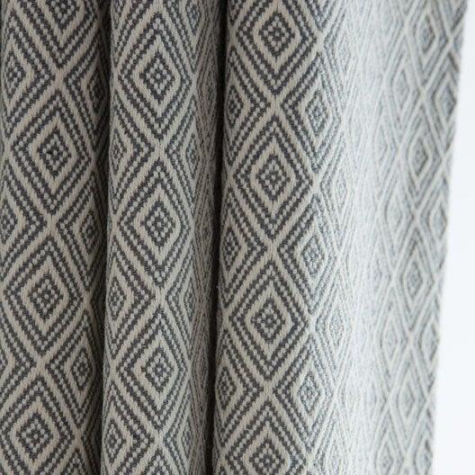 rideau tamisant kimino gris blanc x cm. Black Bedroom Furniture Sets. Home Design Ideas