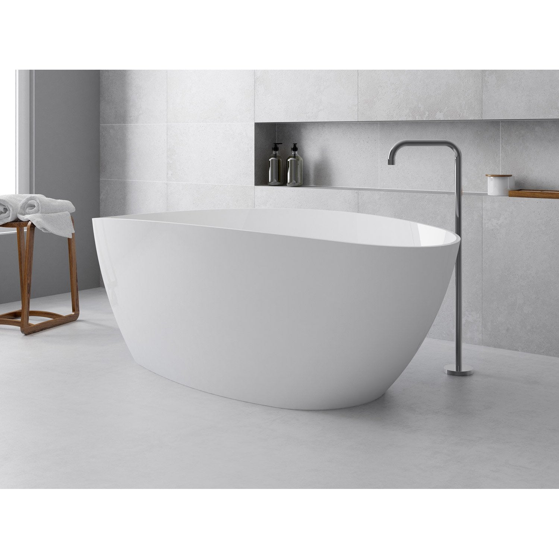 baignoire lot ovale l157x l71 cm blanc brillant stori leroy merlin - Baignoire Ilot Petite Taille