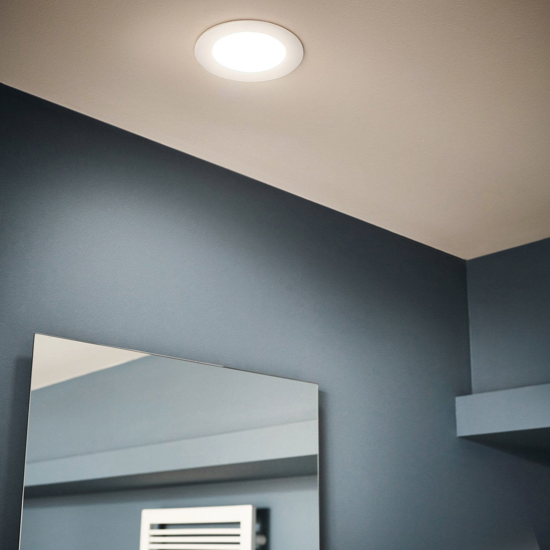 kit 1 spot encastrer salle de bains extrabath fixe inspire led int gr e blanc leroy merlin. Black Bedroom Furniture Sets. Home Design Ideas