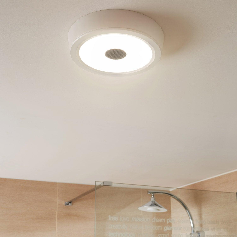 Plafonnier connecté Music, 10 W, LED intégrée blanc froid