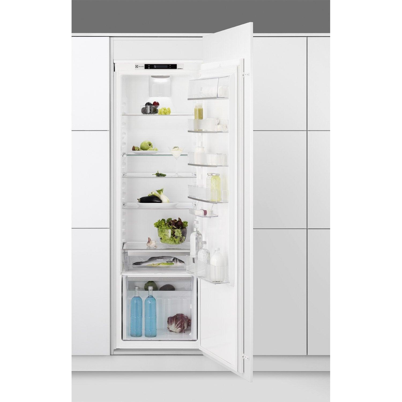 Réfrigérateur Intégrable ELECTROLUX ERNAOW Leroy Merlin - Refrigerateur encastrable 1 porte