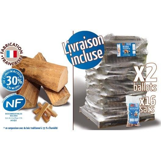Bois de chauffage b ches 25 cm st res 16 for Pouvoir calorifique bois de chauffage