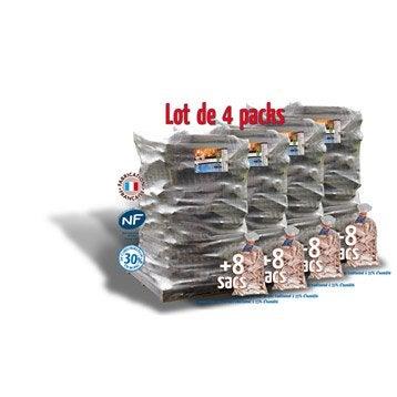 Bois de chauffage, Bûches 25 cm, 7.56m³, 12.6 stères + 32 sacs bois d'allumage