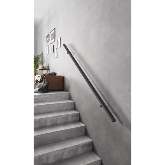kit main courante noir anodis artens l 2 m leroy merlin. Black Bedroom Furniture Sets. Home Design Ideas