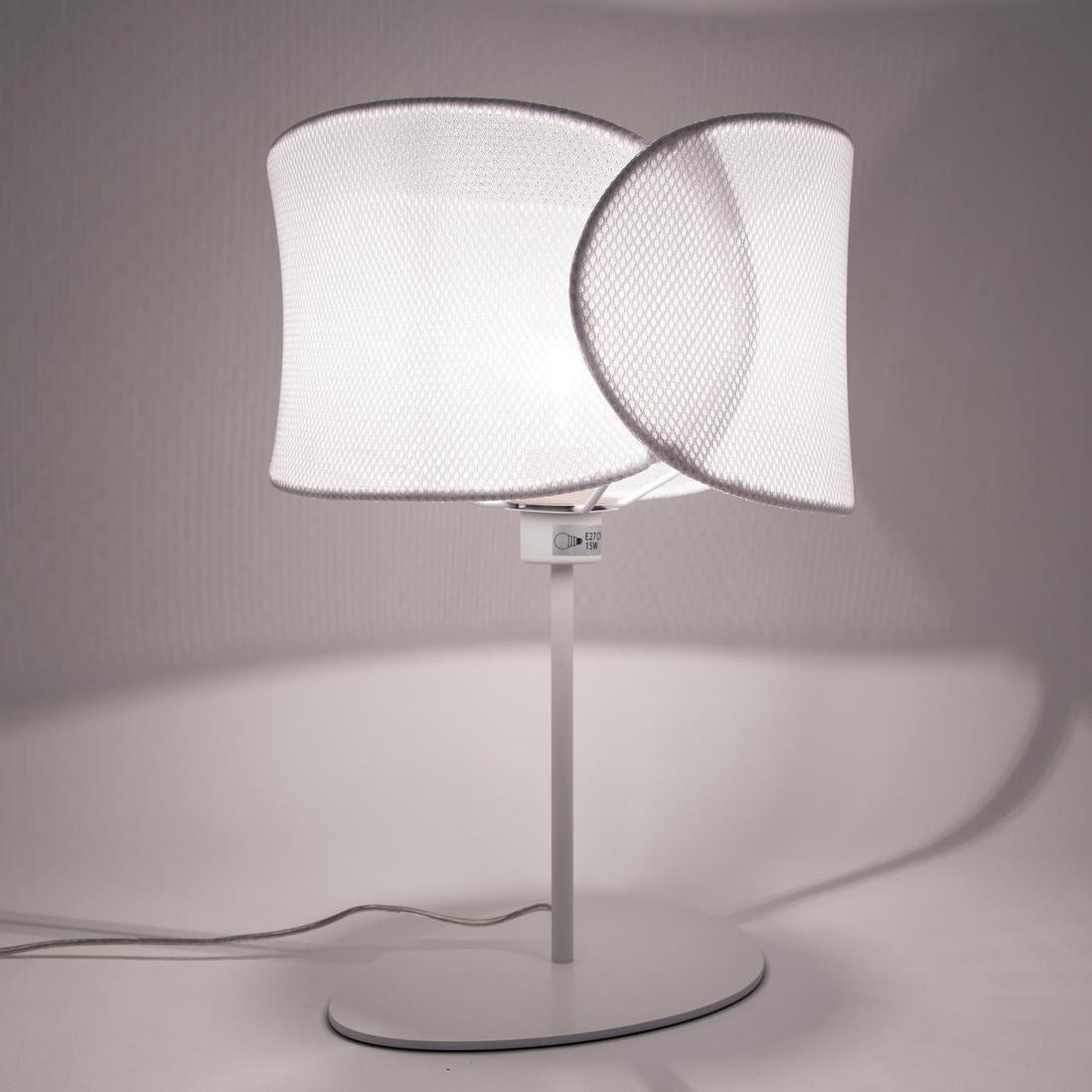 Lampe, design, métal blanc, MARBELLA LIGHTING Net