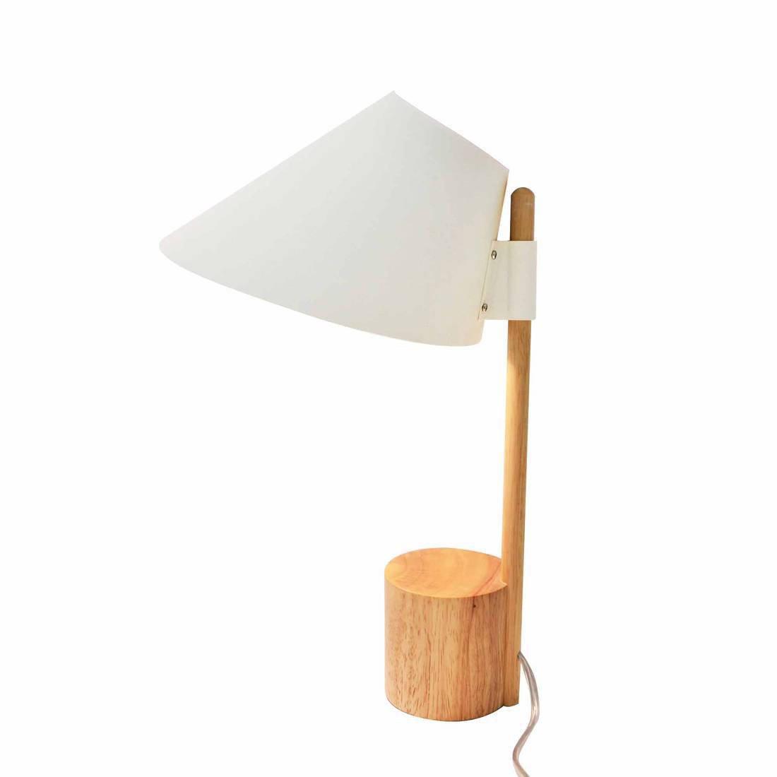 Lampe, design, bois blanc et bois Capy