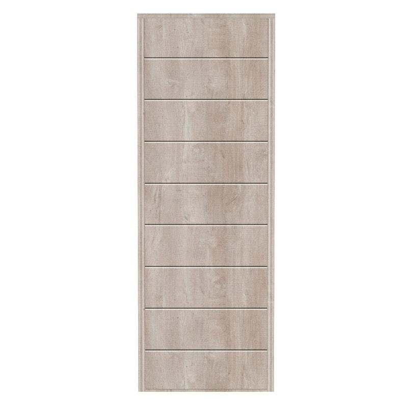 Porte De Placard Coulissante Sur Mesure Kazed Traditionnel De 38 à 60 Cm