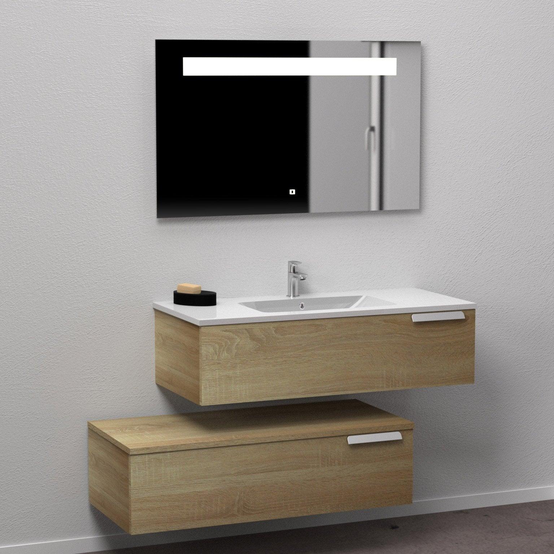 Meuble Salle De Bain Largeur 100 meuble salle de bains 4 pièces, infini l.100 x h.28.3 x p.45.5 cm,  cannelle, inf