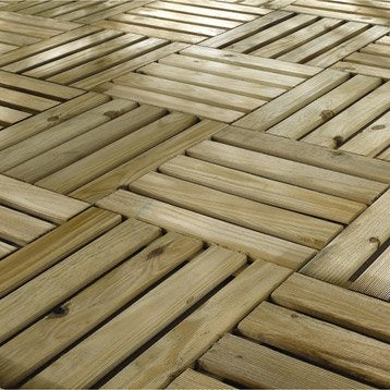 Dalle et lame bois pour terrasse et jardin terrasse et sol ext rieur lero - Dalle bois terrasse 50x50 ...