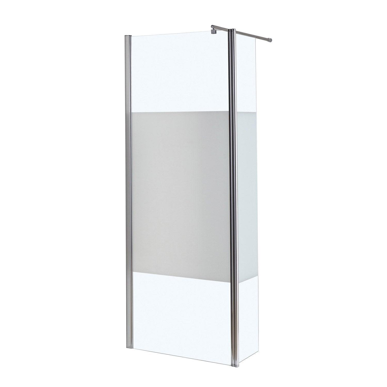 paroi de douche litalienne l80 30 cm verre srigraphi 6 mm open 2 - Paroi De Douche Avec Retour Pivotant
