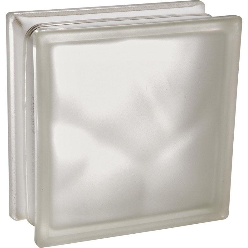 Brique De Verre Blanc Lisse Brillant