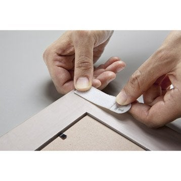 Languette de fixation pour cadre blanc for Miroir 90x30