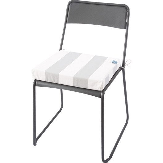 coussin d 39 assise de chaise ou fauteuil blanc vert cabourg nuage jardin prive leroy merlin. Black Bedroom Furniture Sets. Home Design Ideas