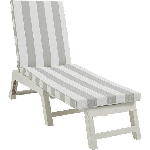coussin de bain de soleil blanc vert cabourg celadon leroy merlin. Black Bedroom Furniture Sets. Home Design Ideas