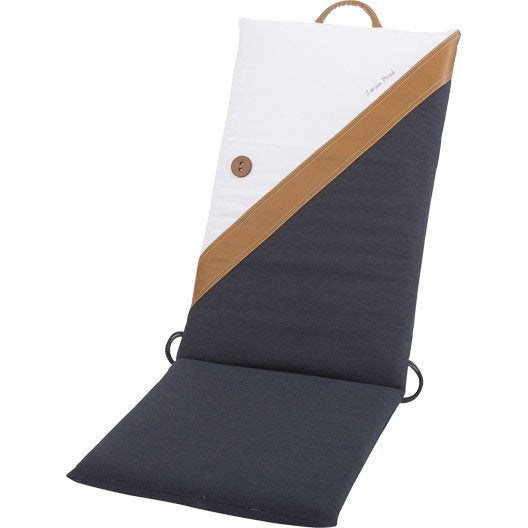Coussin d 39 assise de dossier ou de fauteuil jardin prive - Coussin fauteuil jardin haut dossier ...