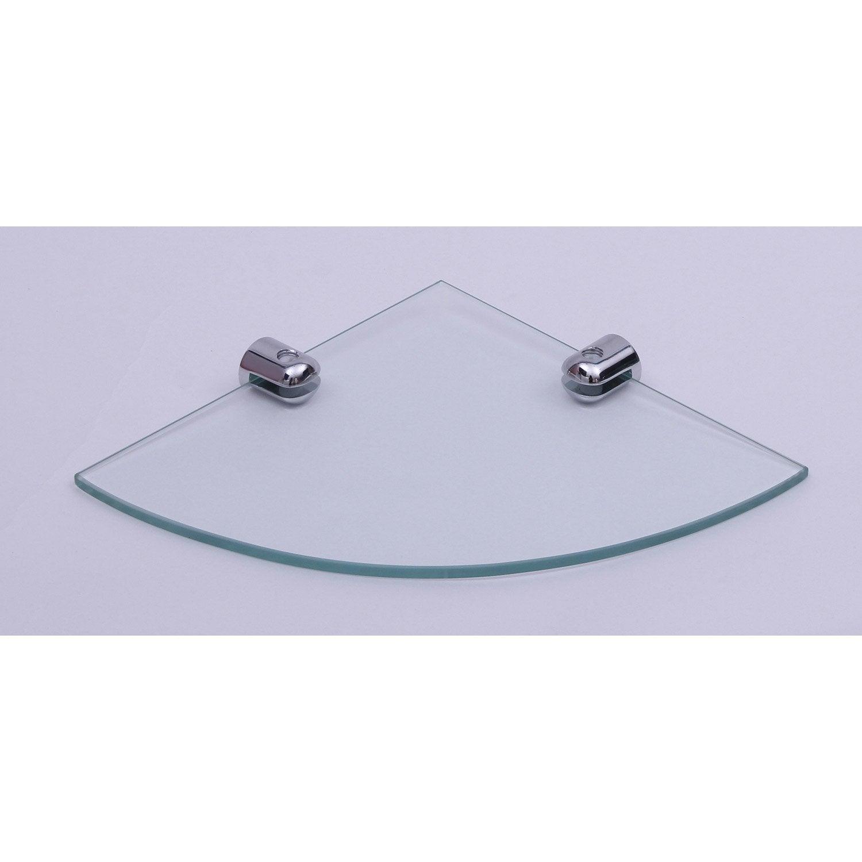 Tablette verre d\'angle modul | Leroy Merlin