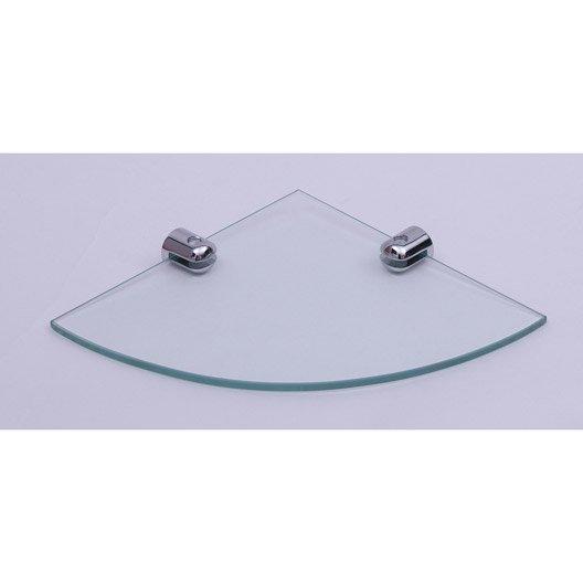 tablette d 39 angle modul transparent leroy merlin. Black Bedroom Furniture Sets. Home Design Ideas