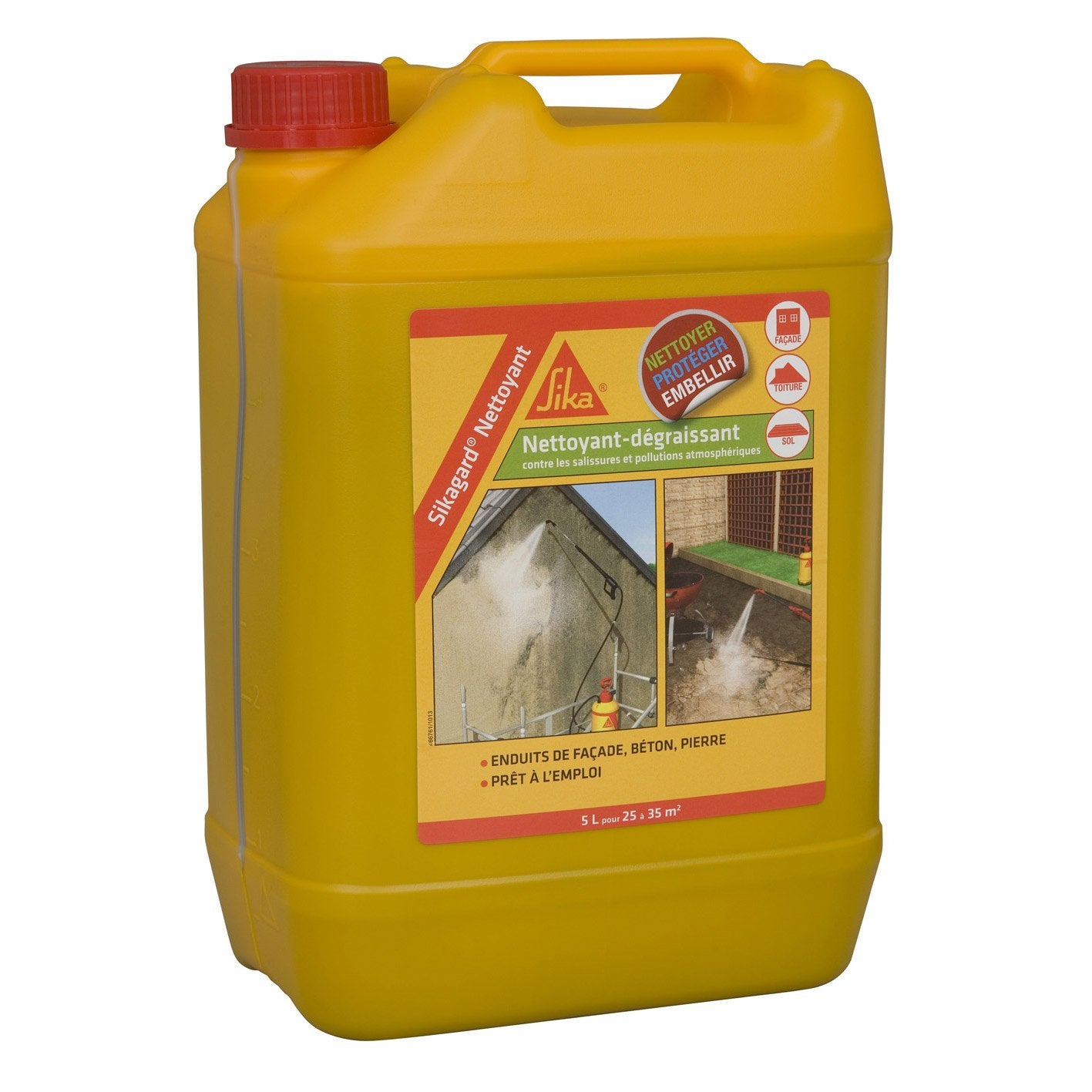 Nettoyant Desincrustant Sika Sikagard 5 L Incolore Leroy Merlin
