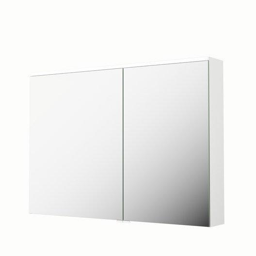 armoire de toilette lumineuse l 105 cm blanc sensea neo. Black Bedroom Furniture Sets. Home Design Ideas