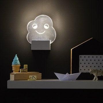 Applique design led intégrée Lucata acrylique Transparent, 1 INSPIRE
