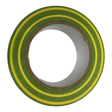 Ruban adhésif vert / jaune, L.10 m x l.19 mm