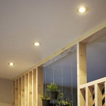 Kit 1 spot à encastrer Ostra fixe led LED intégrée acier