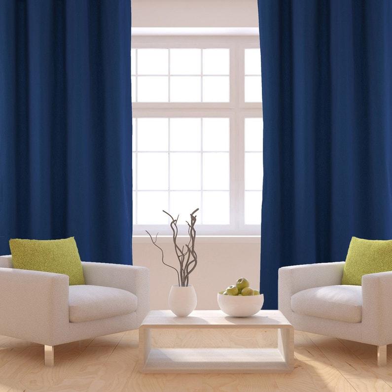 rideau tamisant sunny bleu marine x cm. Black Bedroom Furniture Sets. Home Design Ideas