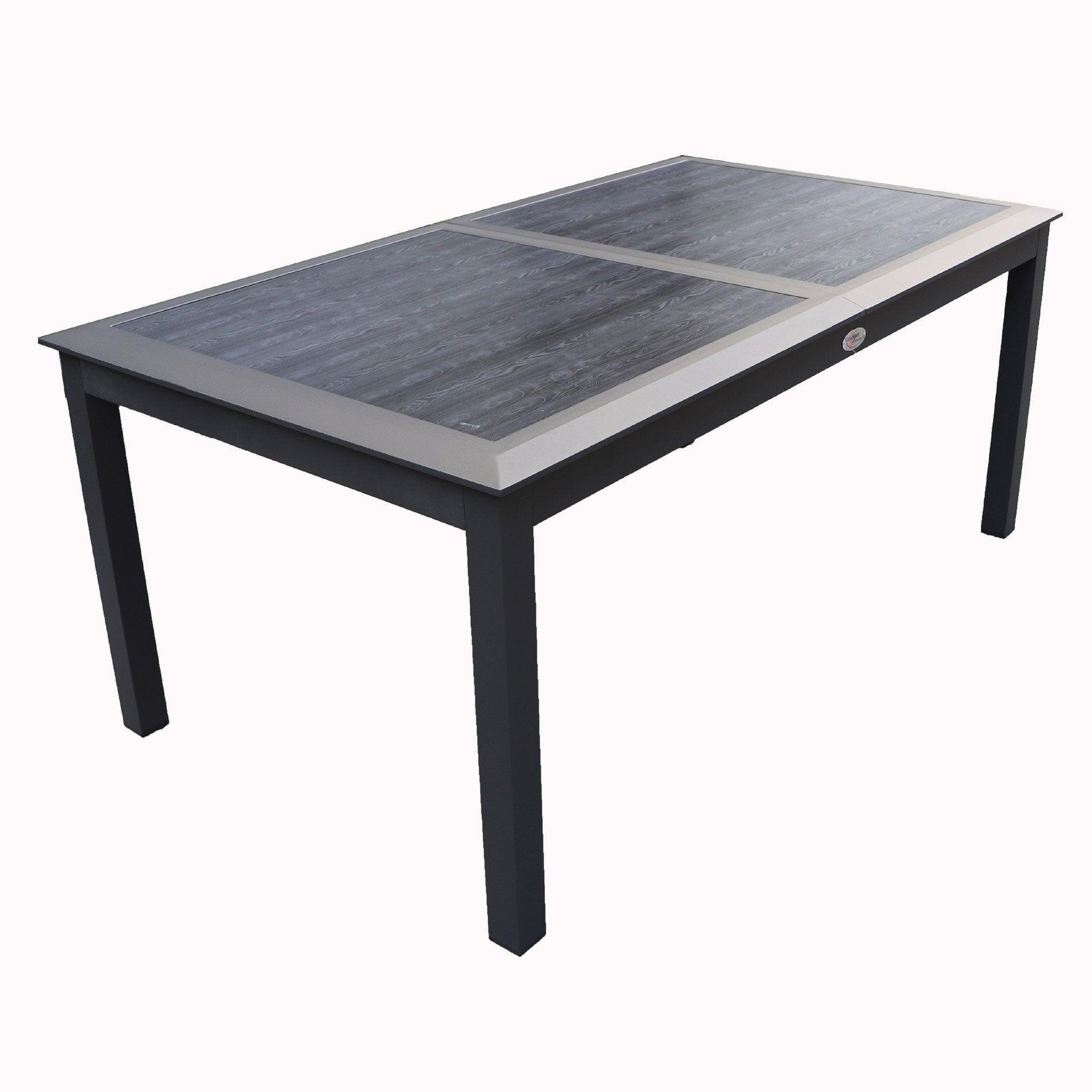 Au Merlin PrixLeroy De Jardin AluminiumBoisRésine Table Meilleur LRj53q4A