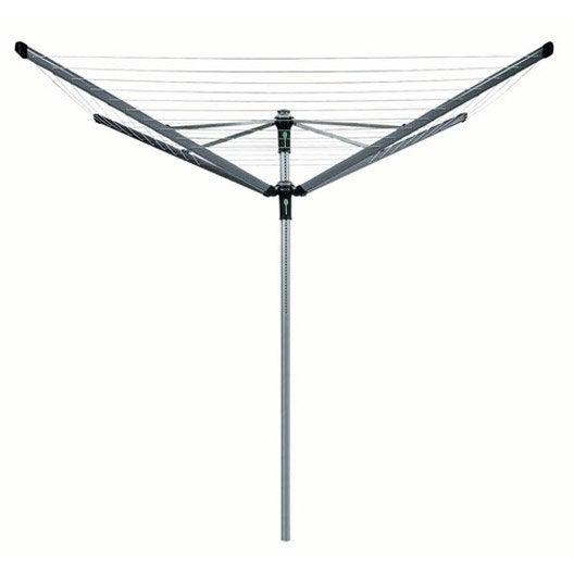 Etendoir s choir parapluie ext rieur jardin leroy merlin for Etendoir a linge exterieur leifheit