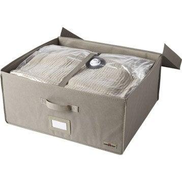 malle compactor xl coloris taupe 2 sacs gain de place. Black Bedroom Furniture Sets. Home Design Ideas