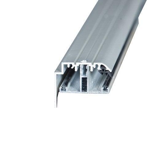 profil t sur-mesure rive pour plaque ep. 32 mm blanc, l.0.5 m