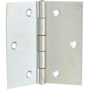 Charnière universelle acier pour meuble, 80 x 80 mm