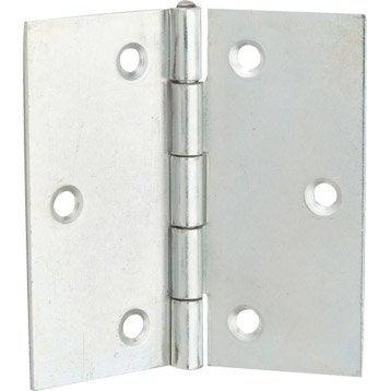 Charnière universelle acier pour meuble, L.60 x l.60 mm