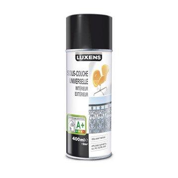 Sous-couche en bombe aérosol Universelle mat LUXENS, blanc, 0.4 l
