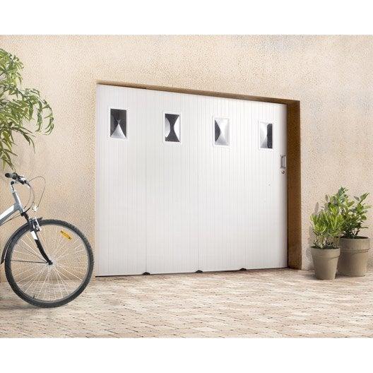 Porte de garage coulissante avec hublot primo x l for Porte interieure coulissante avec hublot