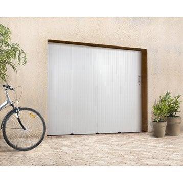 Porte de garage coulissante Sans hublot PRIMO H.200 x l.240 cm