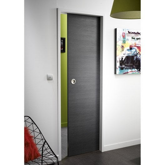 Ensemble porte coulissante londres mdf rev tu avec for Porte 0 galandage