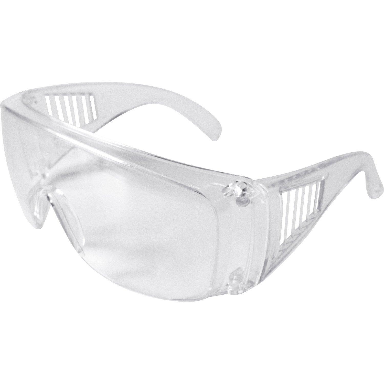 Surlunettes de protection, verre incolore   Leroy Merlin 43566f99ce29