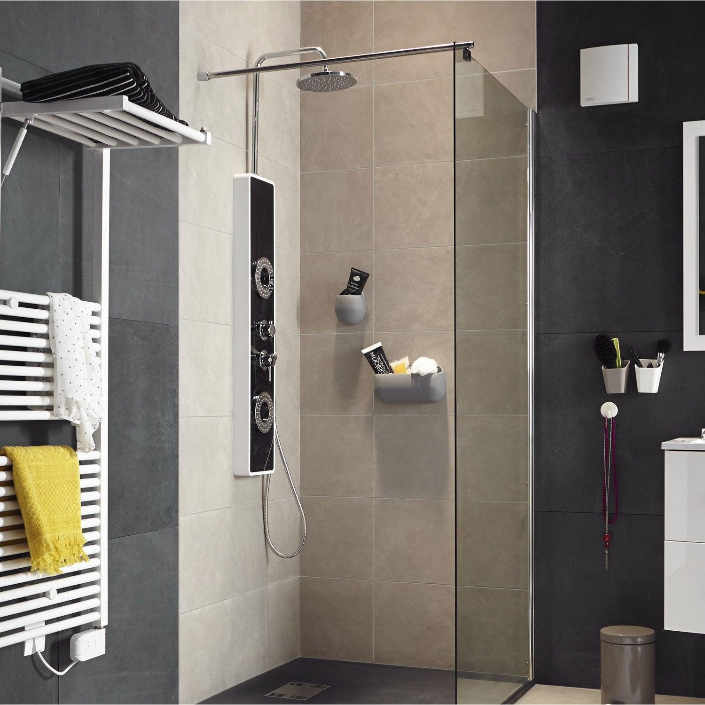 colonne de douche hydromassante avec robinetterie noir colorline leroy merlin. Black Bedroom Furniture Sets. Home Design Ideas