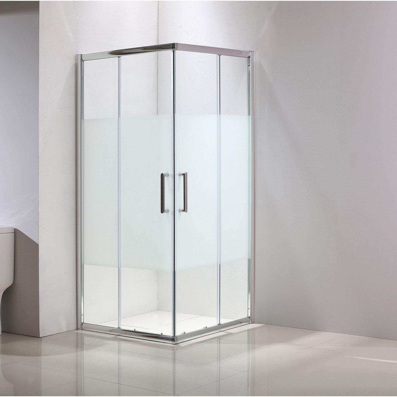 paroi de douche ouverture en angle
