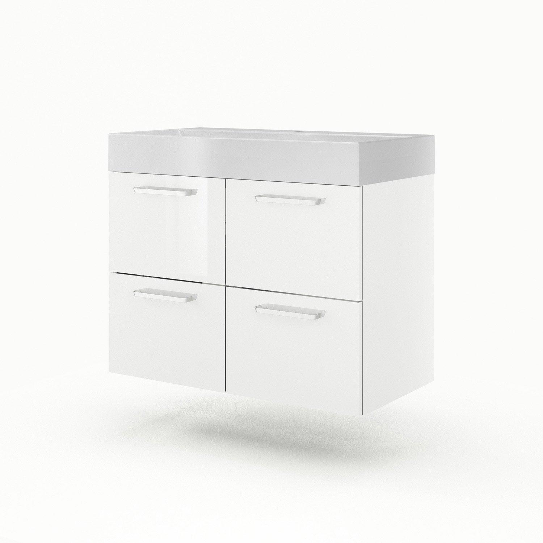 meuble vasque 90 cm blanc neo line leroy merlin. Black Bedroom Furniture Sets. Home Design Ideas