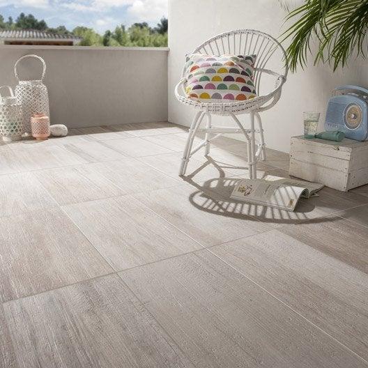 carrelage sol blanc effet bois way x cm leroy merlin. Black Bedroom Furniture Sets. Home Design Ideas