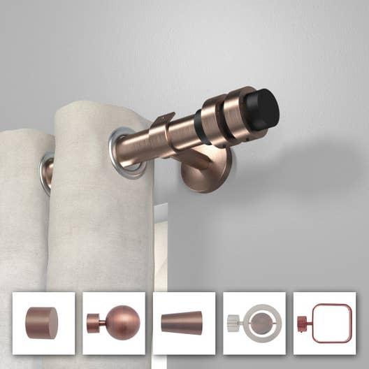 tringle rideau composer inspire design d28 cuivre m tal mm leroy merlin. Black Bedroom Furniture Sets. Home Design Ideas