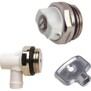 purge et vidange du radiateur robinet et accessoires de radiateur eau chaude leroy merlin. Black Bedroom Furniture Sets. Home Design Ideas